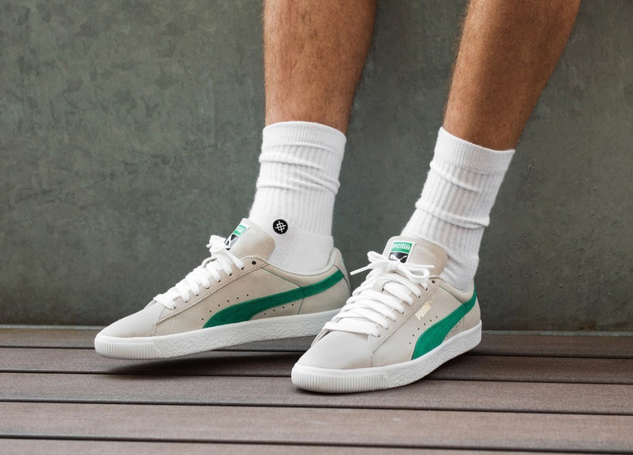 Puma Suede 90681 'Whisper White Green Flash'