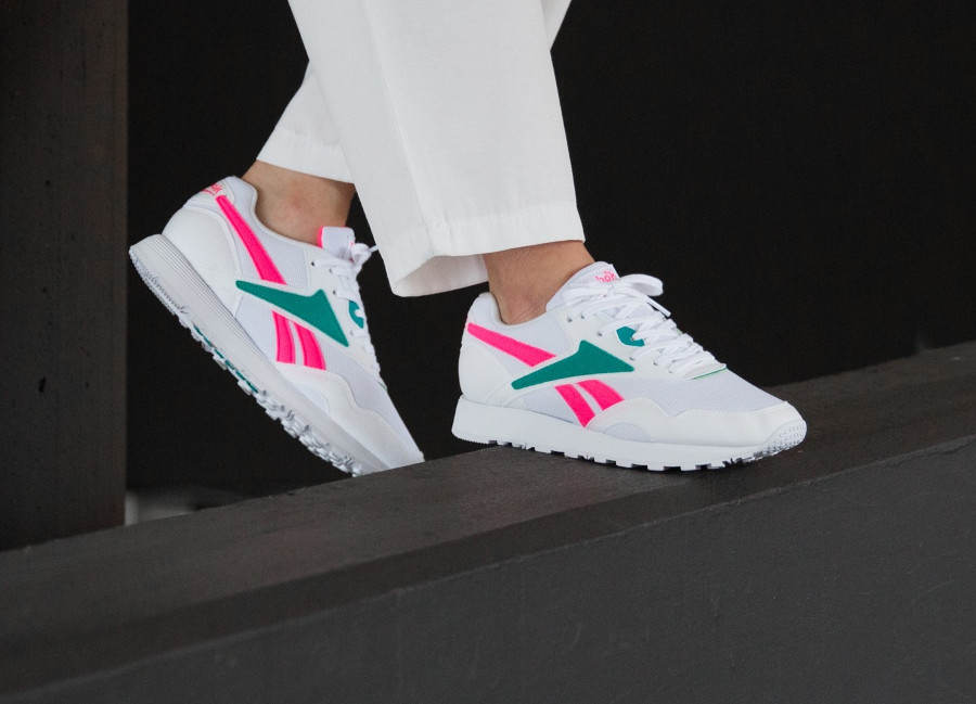Reebok Rapide MU 'White Totally Teal Acid Pink'