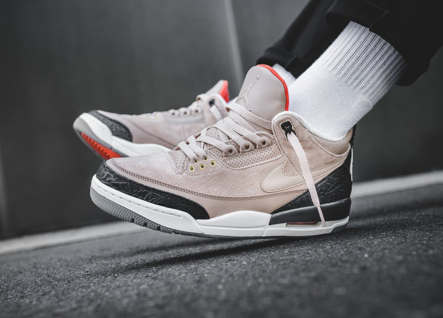 Chaussure Air Jordan 3 JTH NRG Justin Timberlake Bio Beige on feet