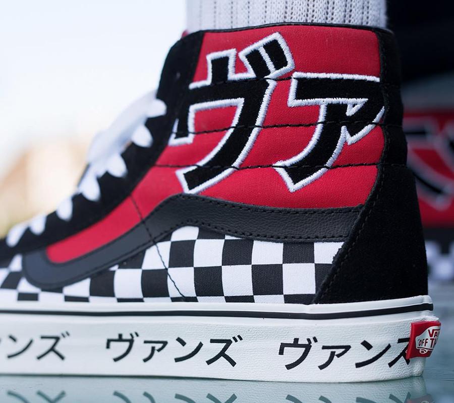 vans-sk8-hi-damier-caractères-japonais-rouge-blanche-et-noire (1)