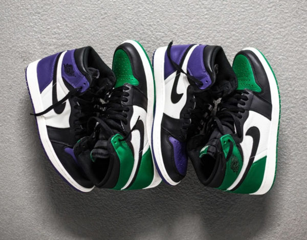 Air Jordan 1 Retro High 'Pine Green & Court Purple'