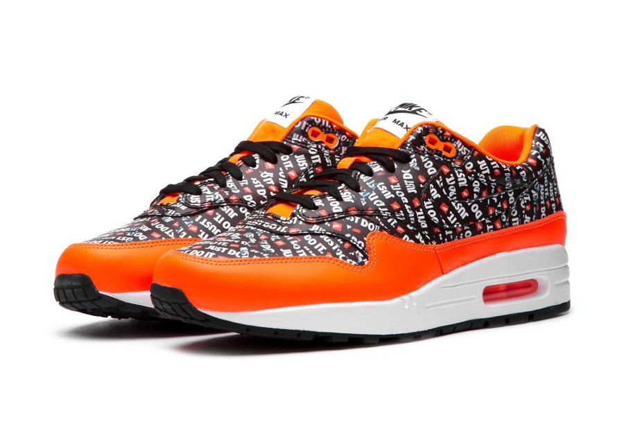 Air Max 1 Just Do It Black Orange en solde