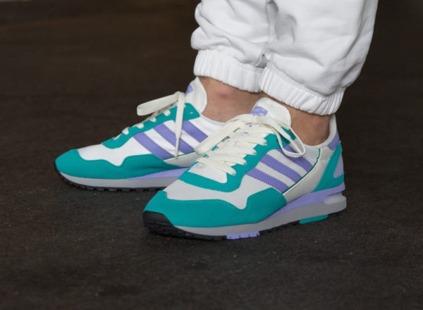 chaussure Adidas SPZL Lowertree Light Purple Aero Reef on feet ( B41822)