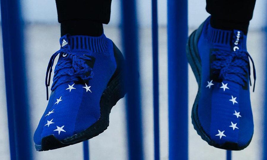 Adidas Consortium Ultra Boost Uncaged Études Studio EU Flag on feet D97732