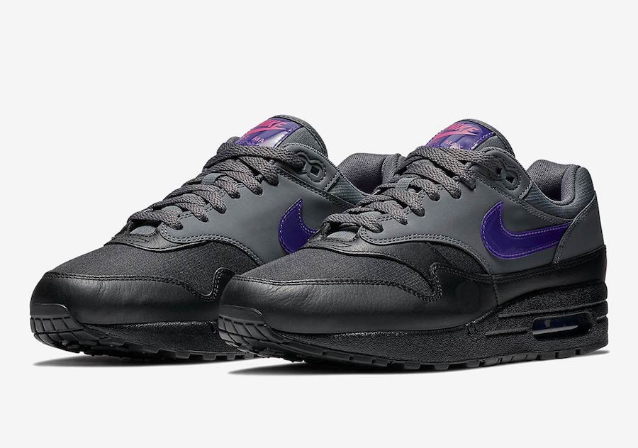 air max 1 dark grey fierce purple en solde