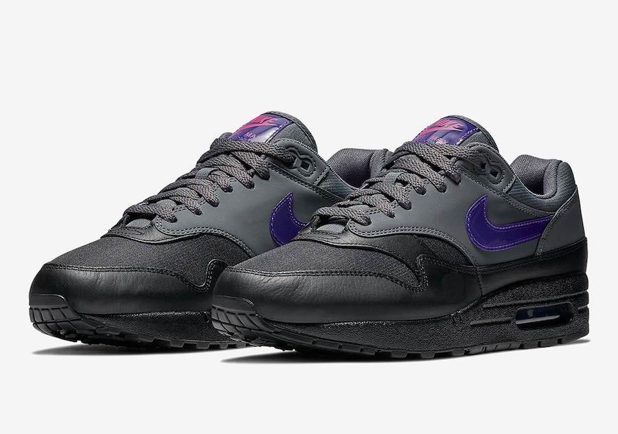 air max 1 dark grey fierce purple en solde