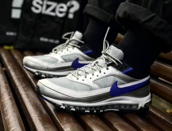 chaussure Nike Air Max 97 BW Hybrid Metallic Silver Persian Violet on feet (AO2406-002)