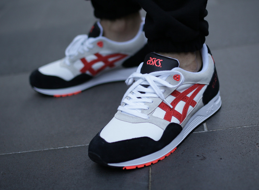 Asics Gel Saga 'Black Beige White Flash Coral'