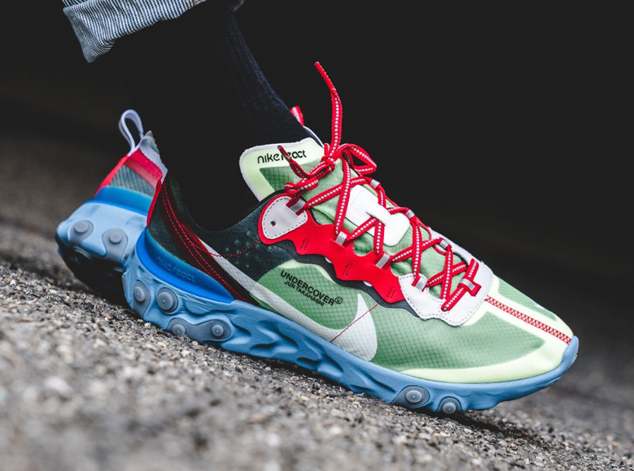 Undercover x Nike React Element 87 'Volt University Red'