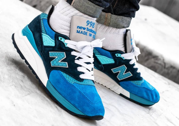 chaussure New Balance M998NE Blue Scales (made in USA)