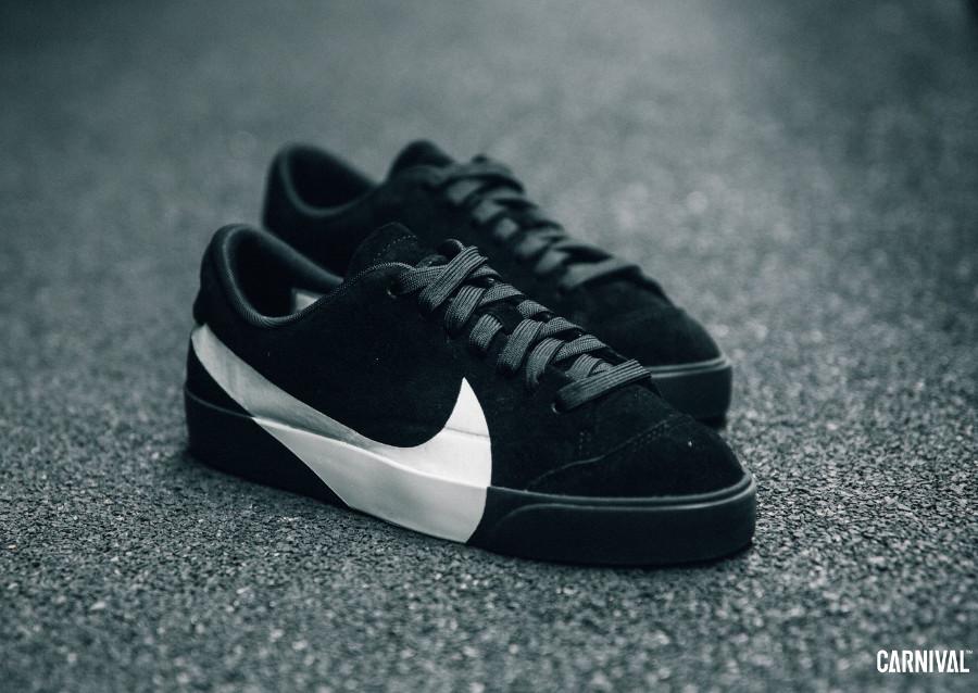 size 40 cecef 42d88 Que vaut la Nike Blazer City Low LX 'Big Swoosh' Black White ?
