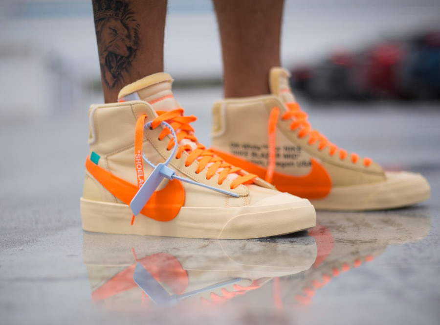 nike-blazer-mid-canvas-v2-X10-beige-et-orange-on-feet- AA3832-700 (1)