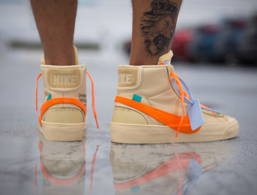 nike-blazer-mid-canvas-v2-X10-beige-et-orange-on-feet- AA3832-700 (3)
