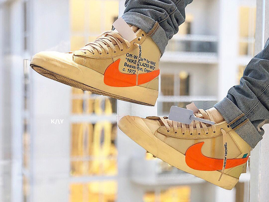 nike-blazer-mid-canvas-v2-X10-beige-et-orange-on-feet- AA3832-700 (4)