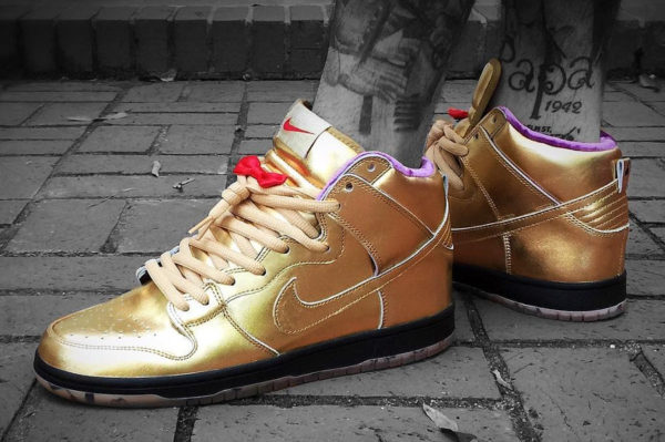 chaussure Nike Dunk High Pro SB QS Humidity Gold Trumpet