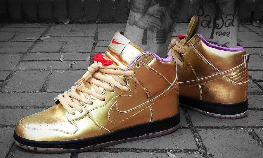 chaussure Nike Dunk High Pro SB QS Humidity Gold Trumpet