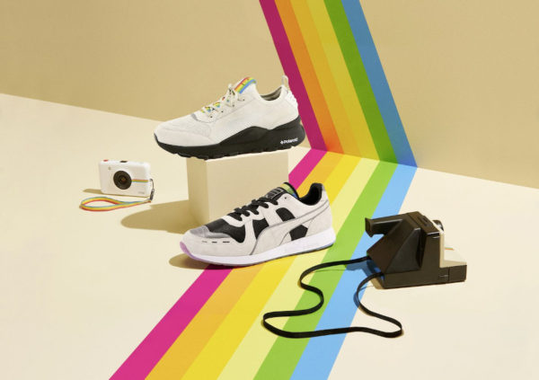 Le pack Polaroid x Puma RS-0 & 100 'Marshmallow Black'