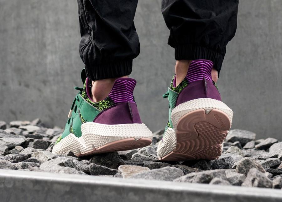 Adidas Dragonball Z Prophere noir violet et vert on feet D97053 (2)