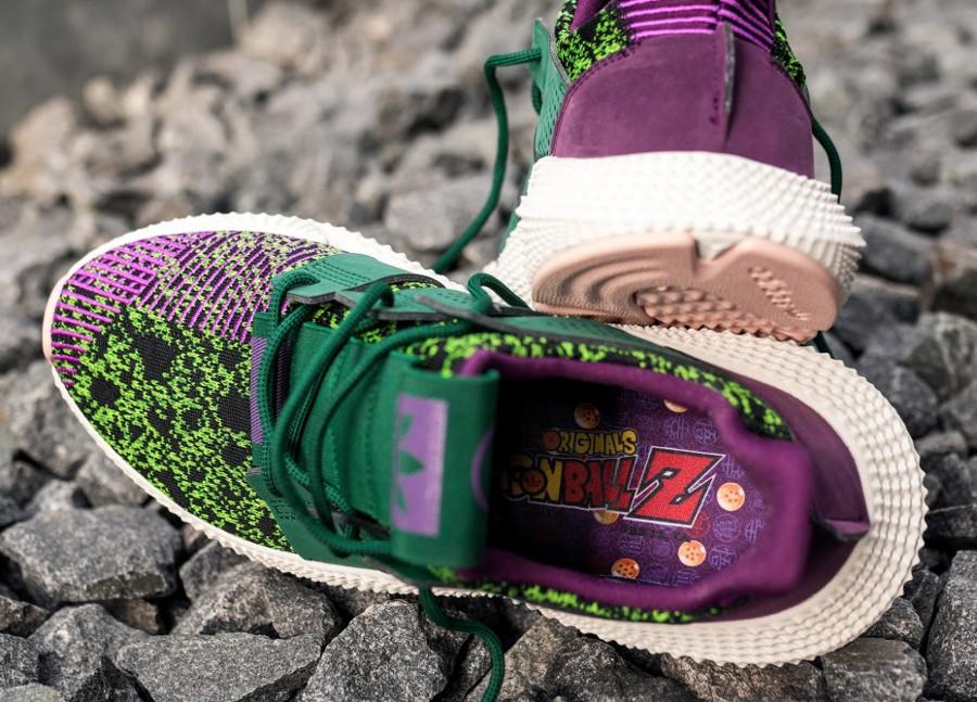 Adidas Dragonball Z Prophere noir violet et vert on feet D97053 (3)