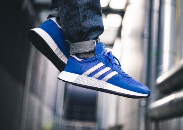 Adidas Marathon TR x Iniki I-5923 bleue argent métallique G26782 on feet (2)