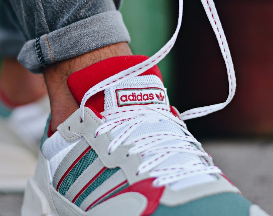 Adidas Originals ZX 930 Equipment blanche grise verte et rouge (1)