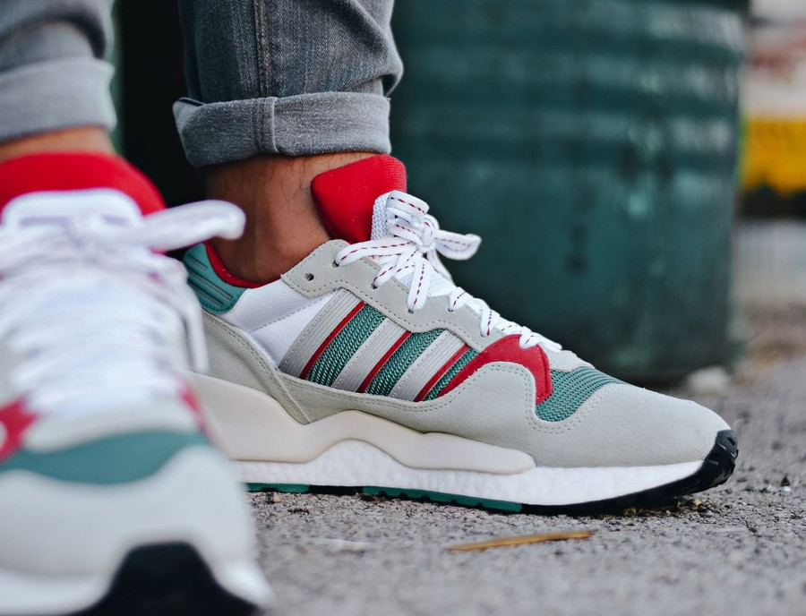 Adidas Originals ZX 930 Equipment blanche grise verte et rouge (2)