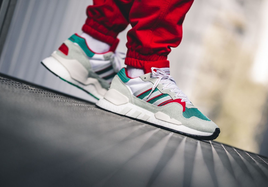 Adidas Originals ZX 930 Equipment blanche grise verte et rouge (5)