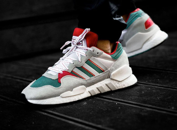 Adidas Originals ZX 930 Equipment blanche grise verte et rouge (6)