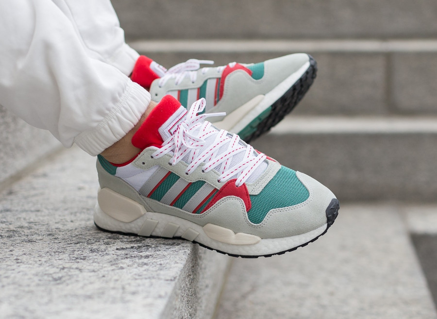 Adidas Originals ZX 930 Equipment blanche grise verte et rouge (G26806)