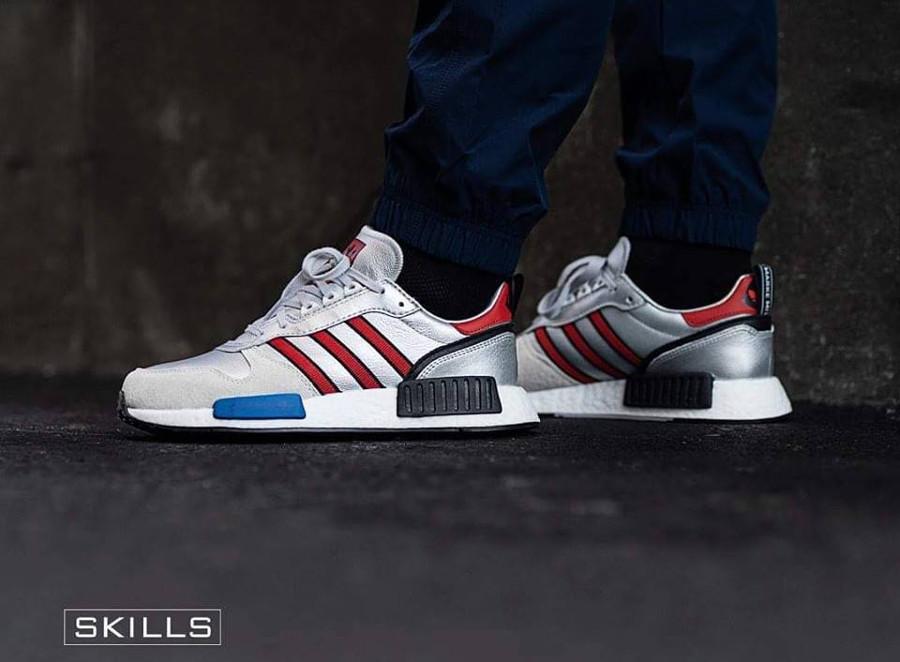 Adidas Rising Star x NMD R1 gris argent on feet G26777 (4)