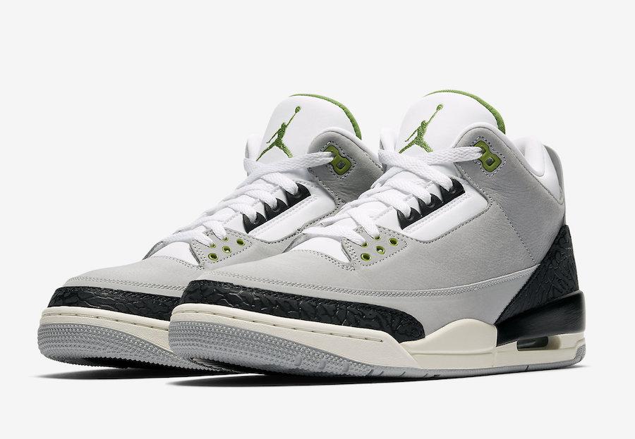 Air Jordan 3 Chlorophyll sortie