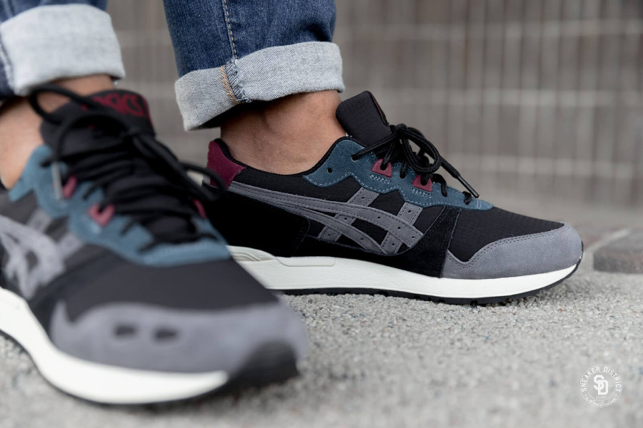 Asics Gel Lyte Gore Tex 'Black Dark Grey' on feet (2)
