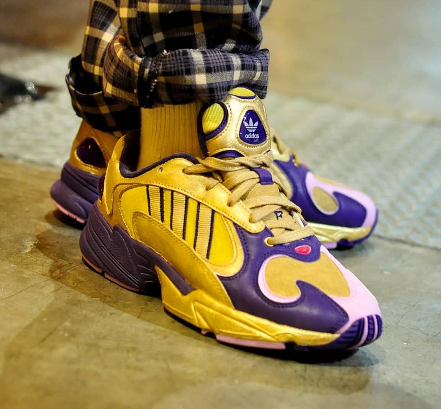 Dragon Ball Z x Adidas Yung-1 Golden Frieza on feet