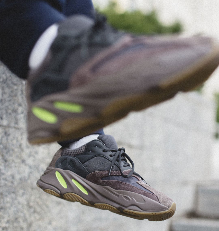 Kanye West x Adidas Yeezy 700 Boost 'Mauve' on feet (2)