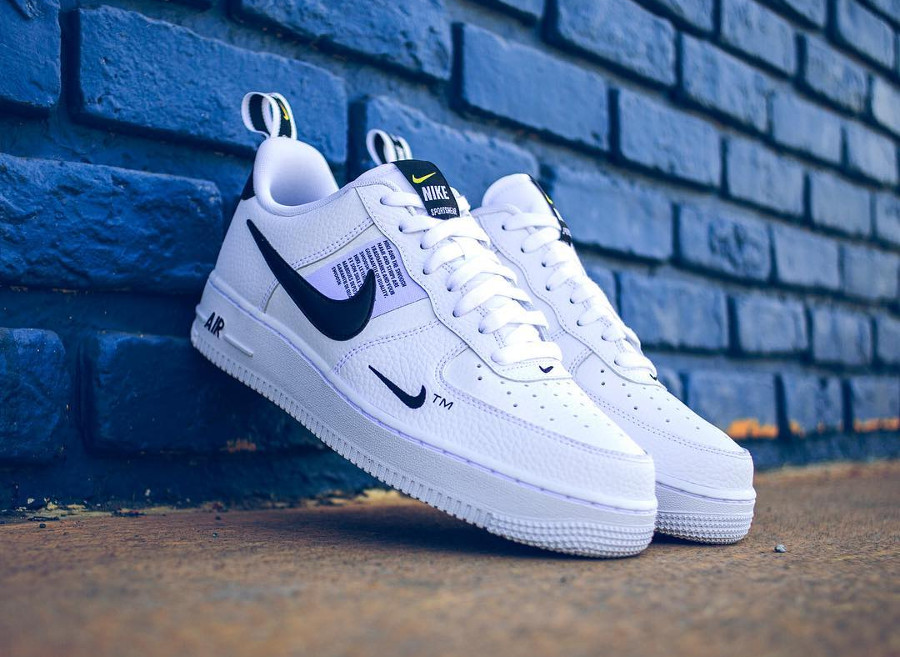 Nike Air Force 1 '07 LV8 Utility blanche White Black (AJ7747-100)
