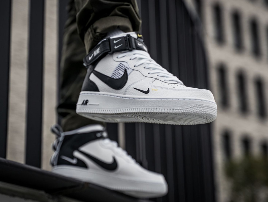 air force 1 montante noir blanc
