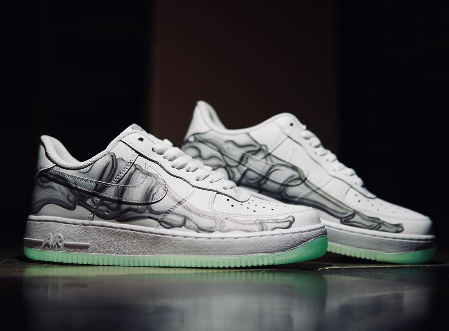 Où trouver la Nike Air Force 1 Low '07 QS Skeleton Halloween