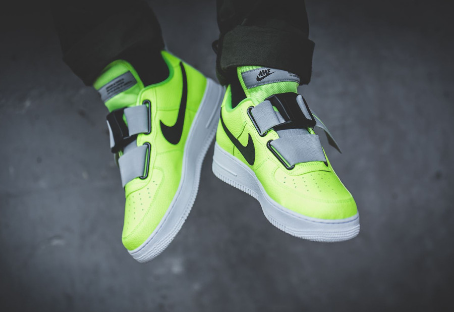 Nike Air Force 1 Utility jaune fluo et blanche (2)