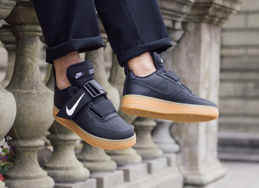 Nike Air Force 1 Utility QS 'Black Gum, Volt & Sequoia'