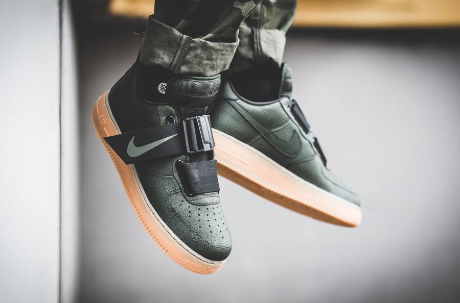 Nike Air Force 1 Utility vert foncé avec gumsole (2)