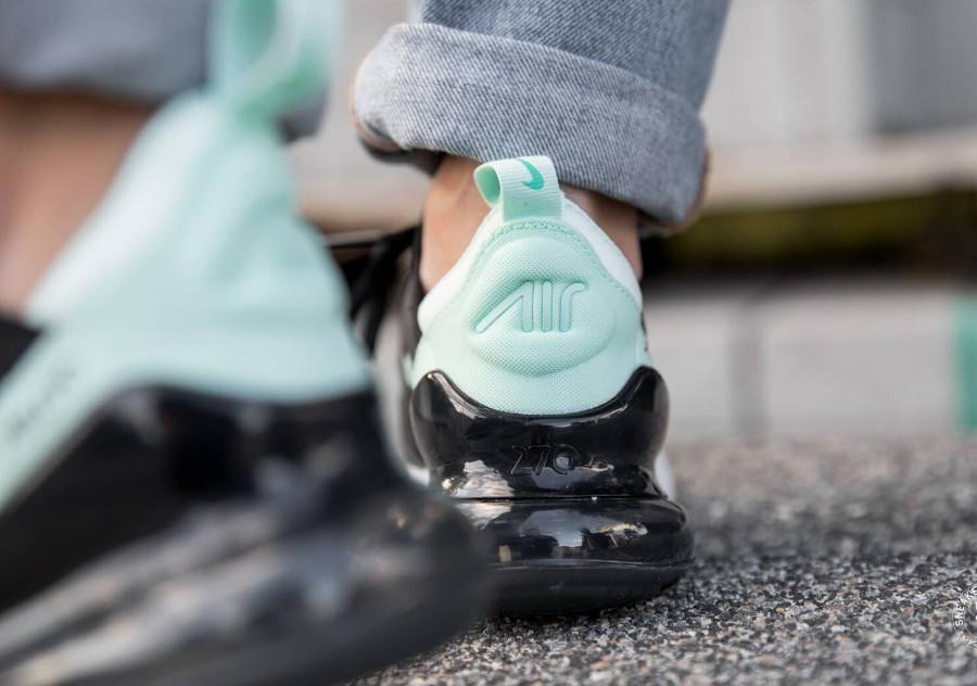 Nike Air Max 270 noire et turquoise pour femme ( AH6789-008) (3)