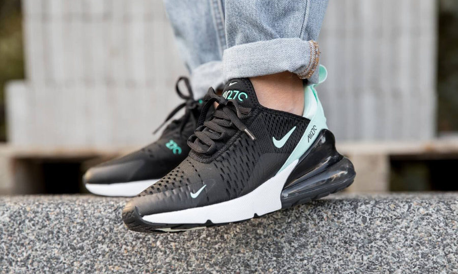 Nike Air Max 270 noire et turquoise pour femme ( AH6789-008) (5)