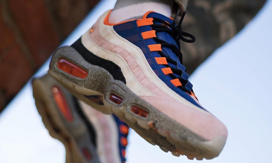 Nike Air Max 95 Champagne Sport Royal Cream Safety Orange (couv)