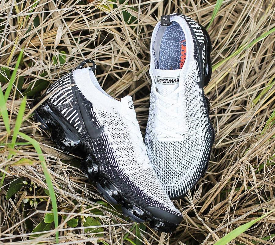 Nike Air Vapormax FK 2 zèbre blanche et noire (2)