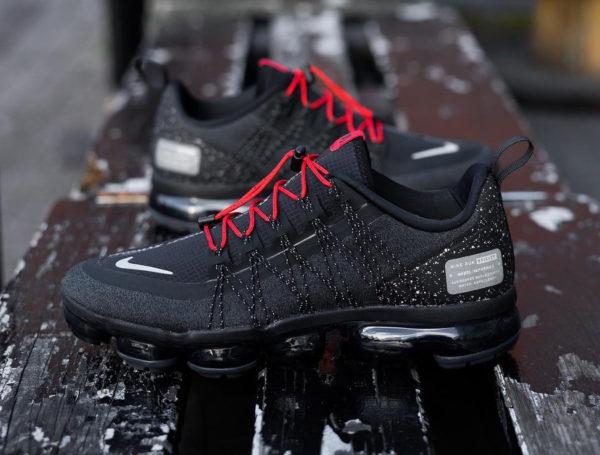 Nike Air Vapormax Run Utility noire grise et rouge (2)