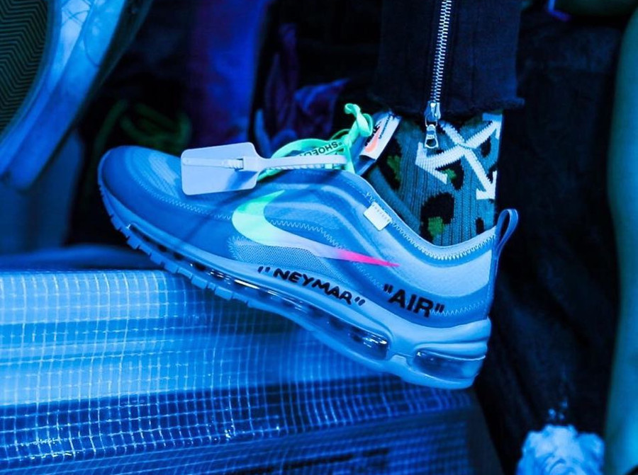 Off White x Nike Air Max 97 Menta de Neymar