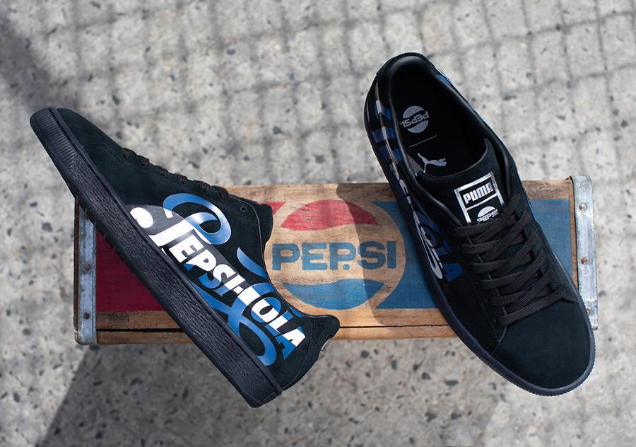 Pepsico Max x Puma Suede Classic noire (366332-02) (4)