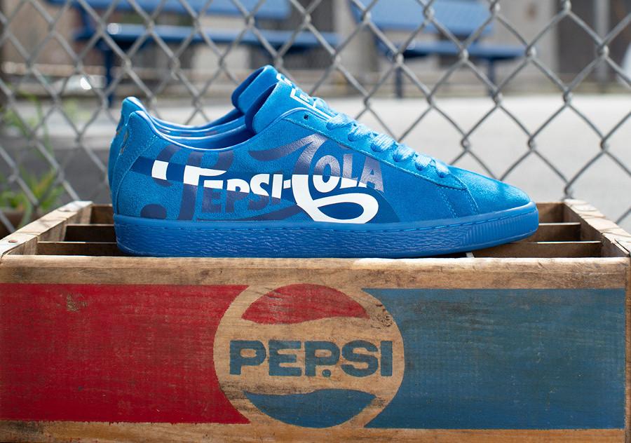 Pepsico x Puma Suede Classic bleue (366332-01) (1)