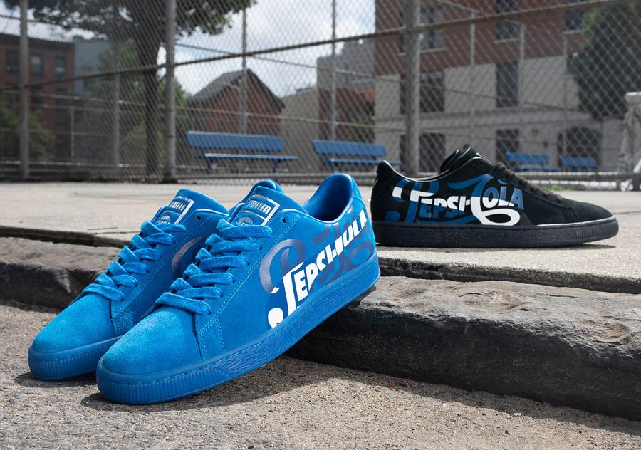 Pepsico x Puma Suede Classic bleue (366332-01) (2)