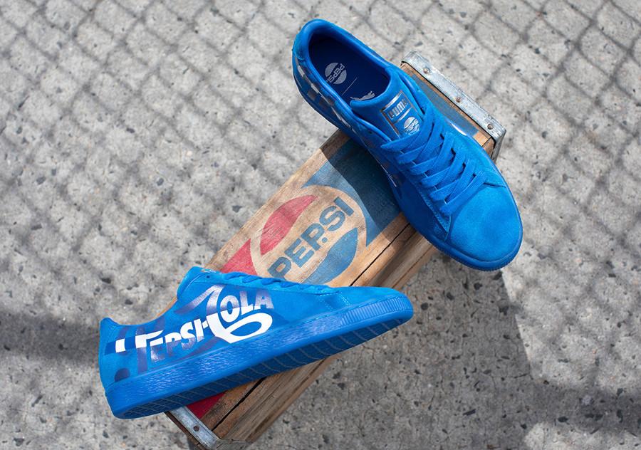 Pepsico x Puma Suede Classic bleue (366332-01) (3)